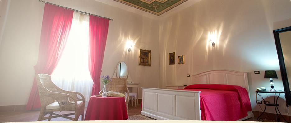 La camera Di Pinto, fiore all'occhiello del Bed and Breakfast Corte Catalana